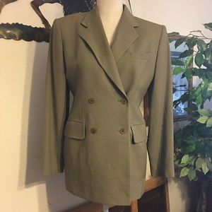 Evan Picone wool double breasted blazer 4
